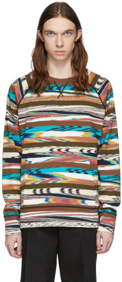 Missoni Brown and Multicolor Print Sweatshirt