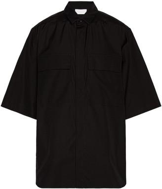 Fear of God Exclusively for Ermenegildo Zegna Oversized Short Sleeve Shirt in Matt Black | FWRD