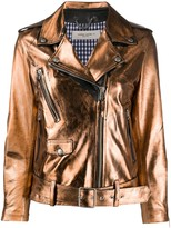 Golden Goose metallic sheen biker jacket