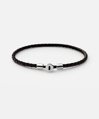 Miansai Nexus Leather Bracelet in Sterling Silver