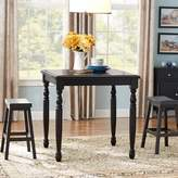 Three Posts Courtdale 3 Piece Pub Table Set Finish: Almond / Wheat