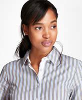 Brooks Brothers Striped Stretch-Cotton Dobby Shirt