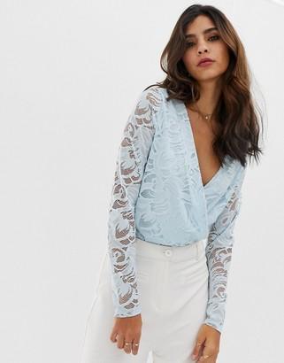 Vila lace body-Blue