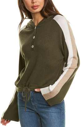 Naadam Cashmere Naadam Ribbed Cashmere-Blend Hooded Pullover