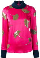 3.1 Phillip Lim sequin ginkgo top - women - Silk/Acetate/Viscose - 2
