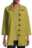 Caroline Rose Ottoman Knit Easy Shirt, Petite