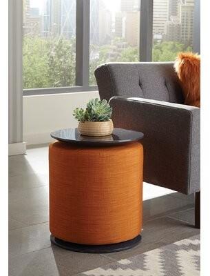 Peak End Table George Oliver Table Base Color: Orange