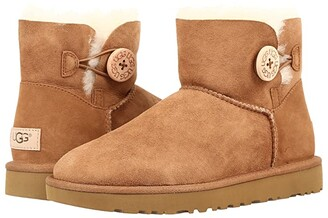 UGG Mini Bailey Button II (Chestnut) Women's Boots