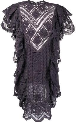 Isabel Marant Ruffled Crochet Lace Dress