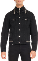 Givenchy Distressed Denim Trucker Jacket, Black
