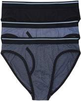 M&Co Patterned And Plain Cotton Briefs Three Pack