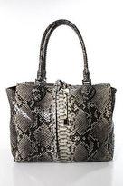 Michael Kors Gray Python Snakeskin Large Satchel Handbag