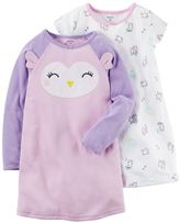 Carter's Toddler Girl 2-pk. Owls Knee Length Nightgowns