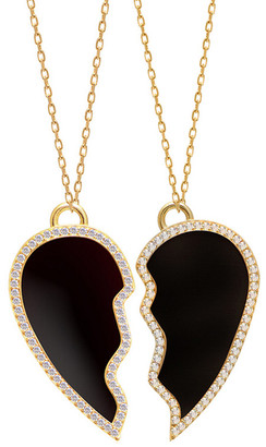 GABIRIELLE JEWELRY Gold Over Silver Cz & Enamel Necklace Set