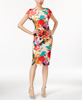 ECI Long Cap-Sleeve Sheath Dress