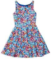 Ralph Lauren Girls' Flared Floral Dress - Sizes 7-16