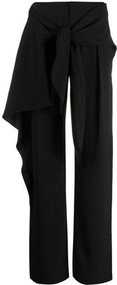 Chloé tie front wide leg trousers