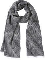 Joe Fresh Women's Frayed Stripe Scarf, Grey (Size O/S)