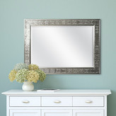 MCSIndustries Silver Medallion Beveled Wall Mirror
