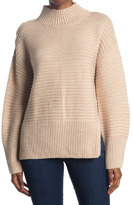 Topshop Funnel Neck Long Sleeve Sweater