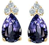 Tommaso design Studio Tommaso Design Pear Shape 8x6mm Genuine Iolite and Diamond Earrings 14k