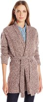 Levi's Women's Belted Cardigan, Pretwist Grey and Andorra, M