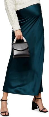 Topshop Bias Satin Maternity Maxi Skirt