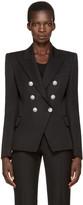 Balmain Black Classic Six-Button Blazer