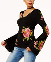INC International Concepts Anna Sui Loves Petite Floral Jacquard Sweater, Created for Macy's