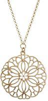 Lauren Conrad Openwork Flower Long Necklace