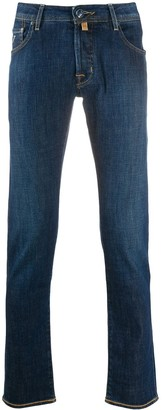 Jacob Cohen High-Rise Straight Leg Jeans