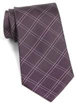 John Varvatos Men's Plaid Silk Tie
