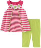 Kids Headquarters 2-Pc. Striped Tunic & Leggings Set, Toddler Girls