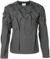 Rochas wrinkled sweatshirt - men - Polyester/Polyurethane/Viscose - M