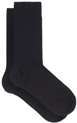 Falke Touch Cotton-blend Socks - Womens - Navy