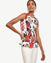 Ann Taylor Tall Sundrenched Floral Peplum Shell