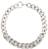 Isabel Marant Crystal Embellished Chain Choker in Metallics.