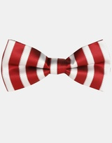 Candy Red/White Bow Tie