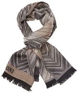 Missoni Embroidered Fringe Wool Long Scarf