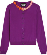 Moschino Embellished Wool Cardigan - Purple