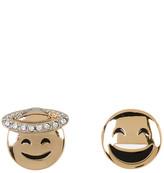 BCBGeneration Enamel & Crystal Detail Emoji Earrings