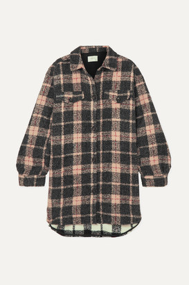 MUNTHE Oversized Checked Felt Jacket