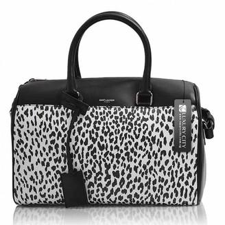 Saint Laurent Duffle Black Leather Handbags
