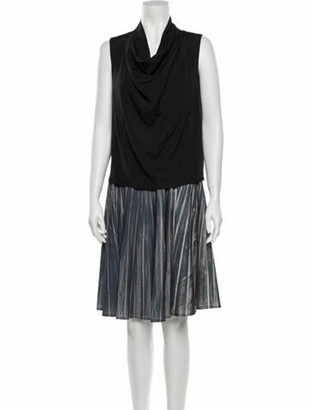 Maison Margiela Colorblock Pattern Knee-Length Dress Brown