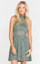 MUMU Alexa Dress ~ Fleur De Lis Lace Rosemary