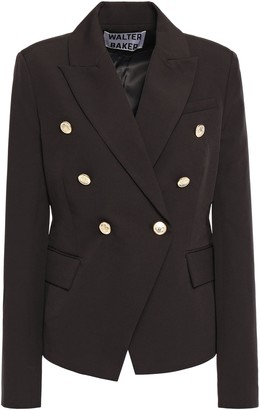 Walter Baker Phelps Double-breasted Crepe De Chine Blazer