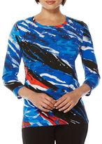 Rafaella Embellished Cotton-Blend Top