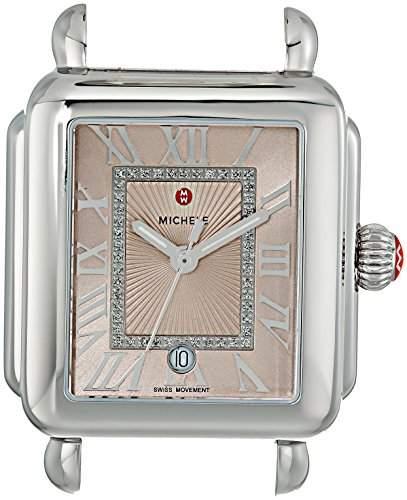 Michele Women's 'Deco Madison Head' Swiss Quartz Stainless Steel Casual Watch Head