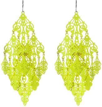 Amrita Singh Women's Earrings Yellow - Yellow Gabrielle Chandelier Earrings