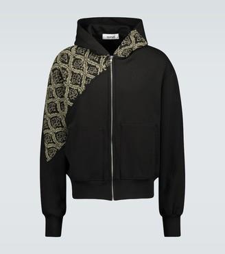 Adish Sawsanas zip-up hooded sweatshirt